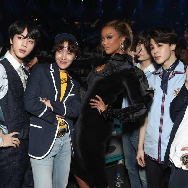Tyra Banks, BTS, Billboard Music Awards, Candid